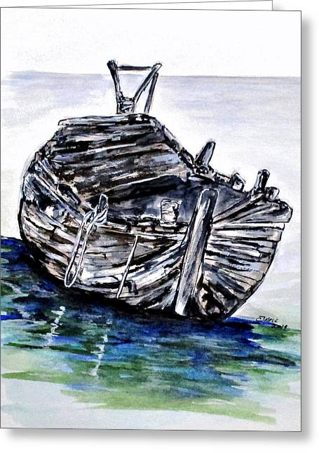 Broken But Afloat Greeting Card