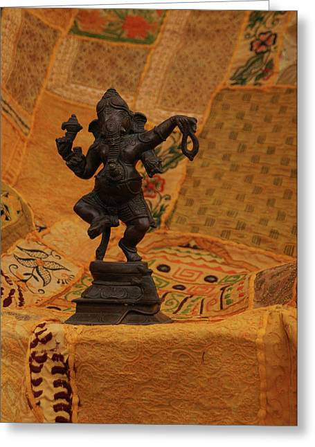 Bronze Ganesha Dancing Greeting Card