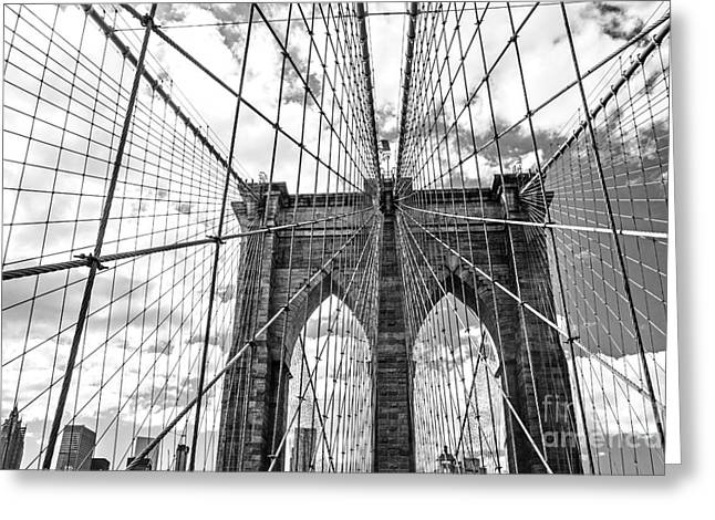 Brooklyn Bridge, New York, Usa Greeting Card