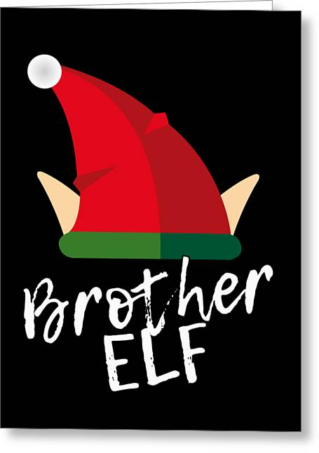 Greeting Card featuring the digital art Brother Elf Christmas Costume by Flippin Sweet Gear