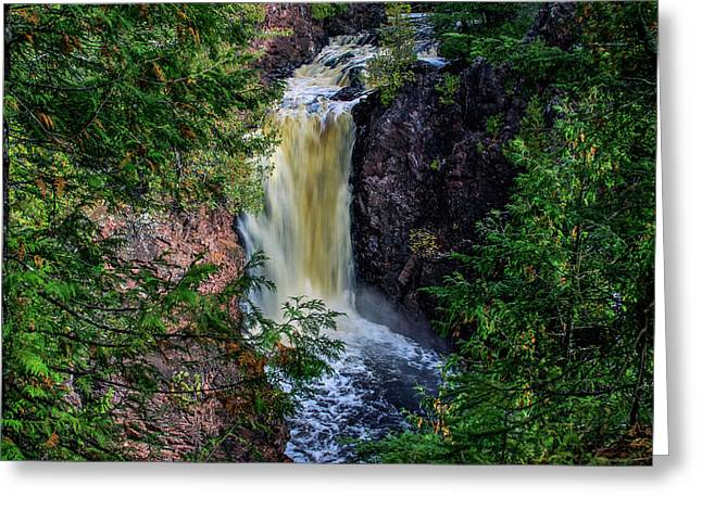 Brownstone Falls Greeting Card