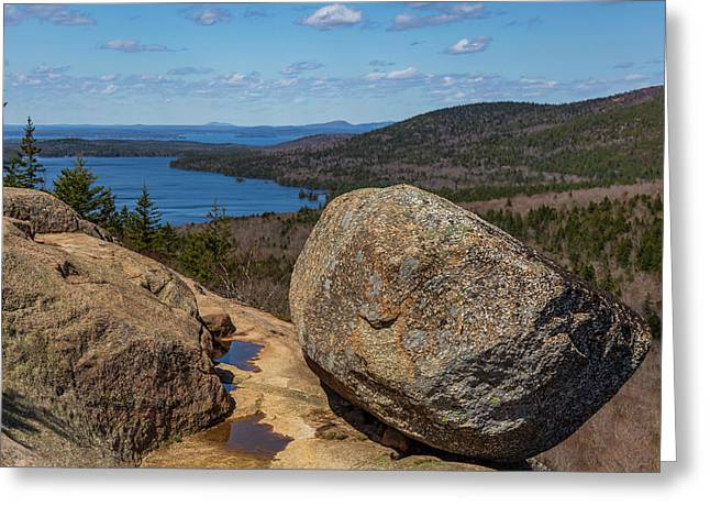 Acadia Np - Bubble Rock Greeting Card