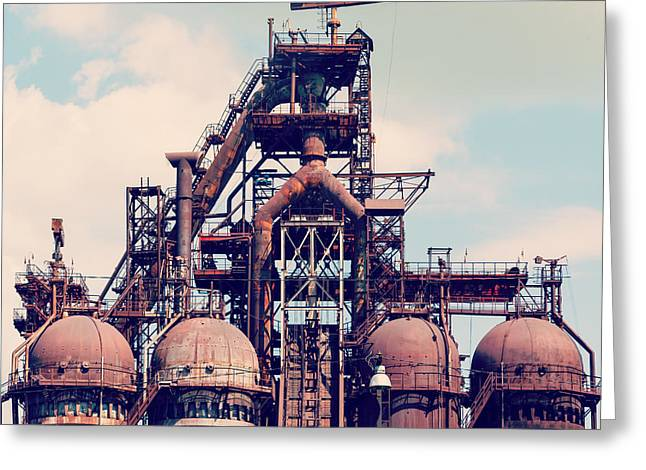 Building A Blast Furnace At The Steel Greeting Card