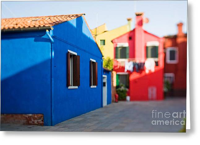 Burano Island In Tilt-shift Greeting Card