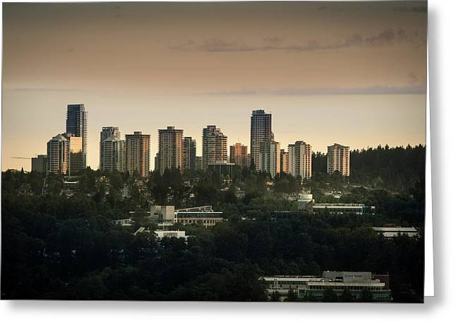Burnaby Dusk Greeting Card