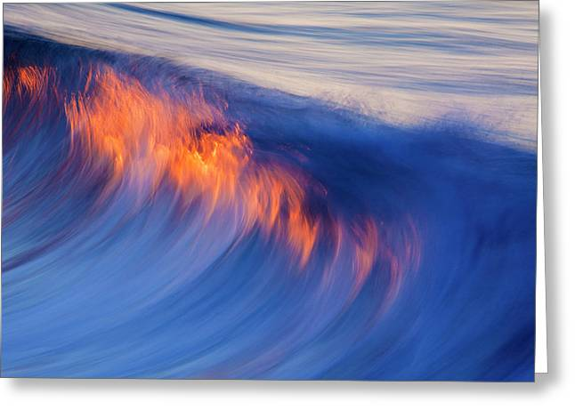 Burning Wave Greeting Card