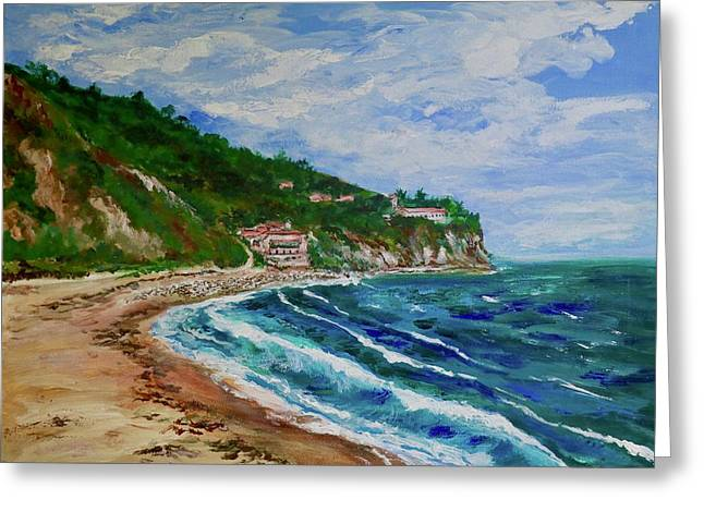 Burnout Beach, Redondo Beach California Greeting Card