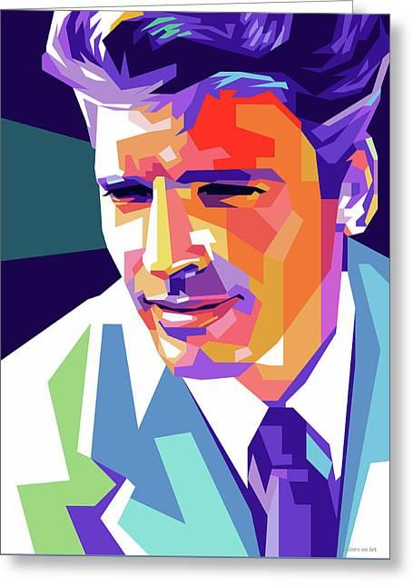Burt Lancaster Pop Art Greeting Card