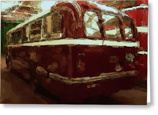 Bus 101 Painting Greeting Card