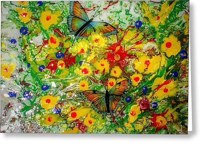 Greeting Card featuring the painting Butterfly Delight by Vincent Autenrieb