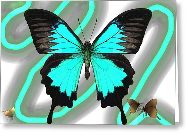 Butterfly Patterns 23 Greeting Card
