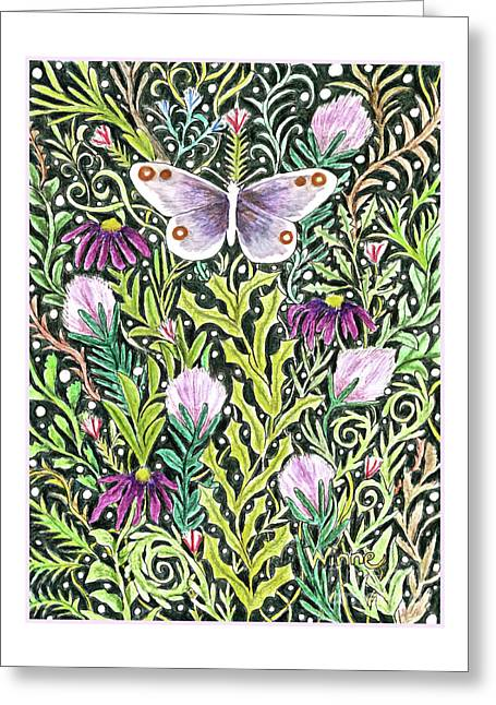 Butterfly Tapestry Design Greeting Card