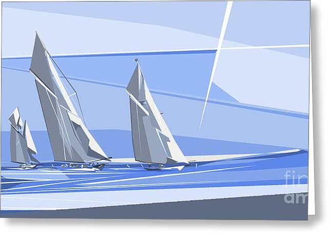 C-class Yachts Greeting Card