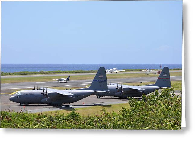 C130h At Rest Greeting Card