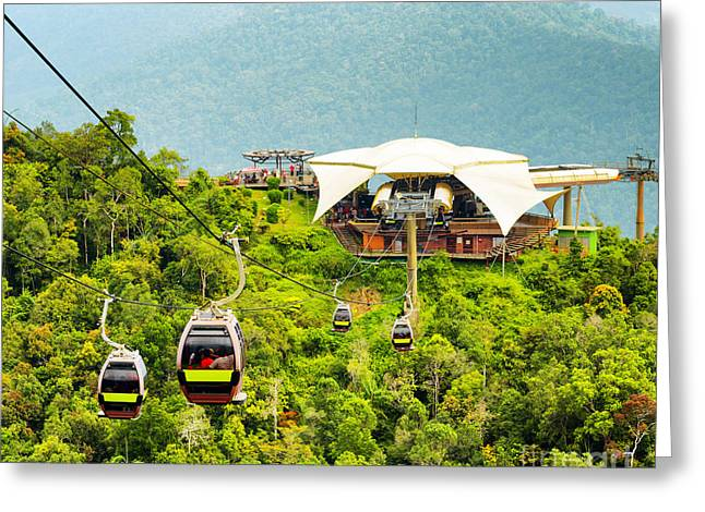 Cable Car On Langkawi Island, Malaysia Greeting Card by Efired