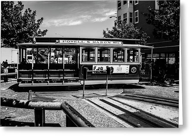 Cable Car Turn Around Greeting Card