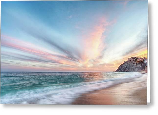 Cabo San Lucas Beach Sunset Mexico Greeting Card