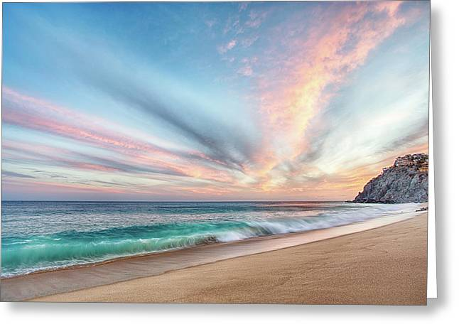 Greeting Card featuring the photograph Cabo San Lucas Beach Wave Sunset by Nathan Bush