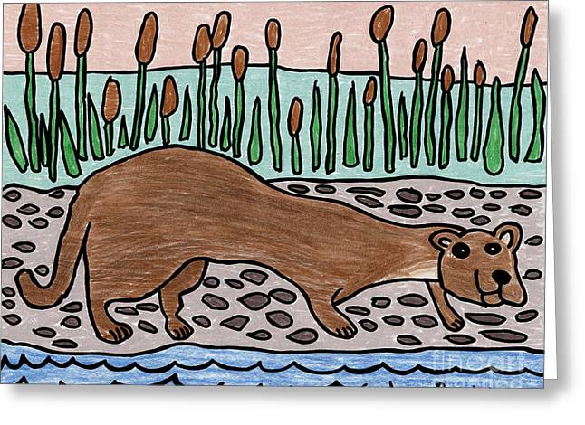Caden's River Otter Greeting Card