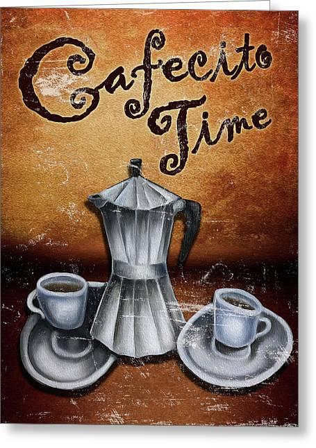 Cafecito Time Greeting Card