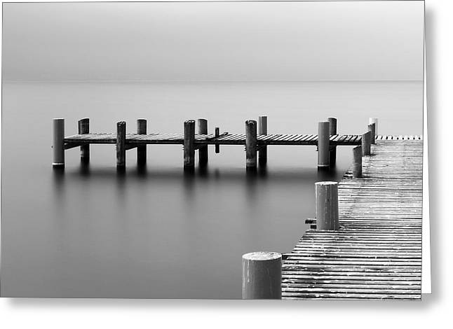 Calm Scene In Black And White With Greeting Card