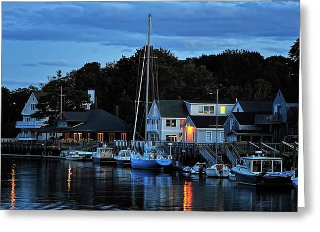 Camden Maine Twightlight Greeting Card