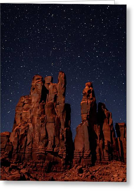 Camel Butte Under The Night Sky Greeting Card