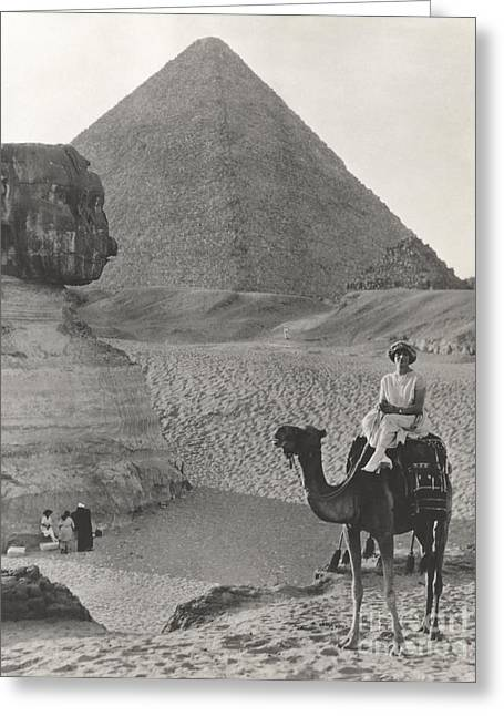 Camel Ride At The Sphinx And Pyramids Greeting Card