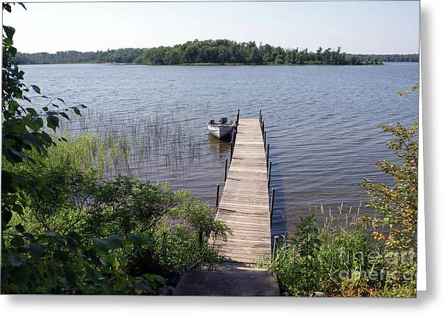Greeting Card featuring the photograph Camelot Island Borden Lake by Gary Eason