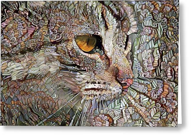 Camo Cat Greeting Card
