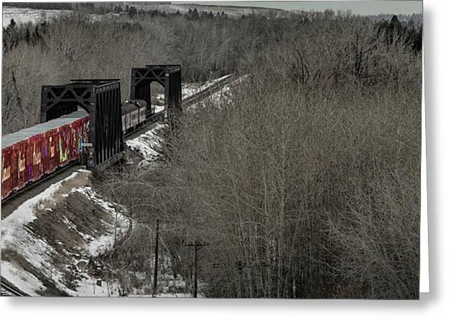 Greeting Card featuring the photograph Canadian Pacific Holiday Train 2018 I by Brad Allen Fine Art