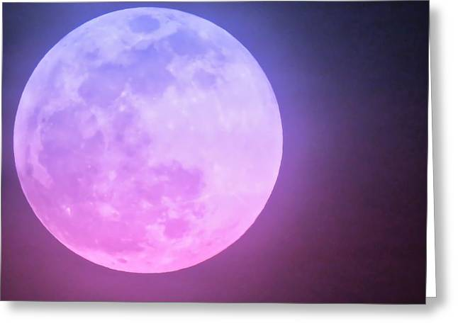 Cancer Super Wolf Blood Moon Near Eclipse Greeting Card