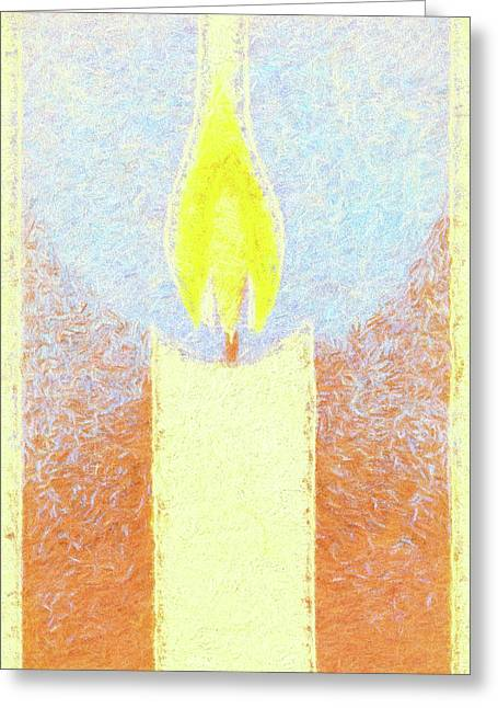 Candle Flame Pastel Greeting Card
