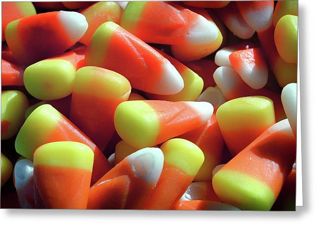 Greeting Card featuring the photograph Candy Corn For Halloween by Bill Swartwout Fine Art Photography