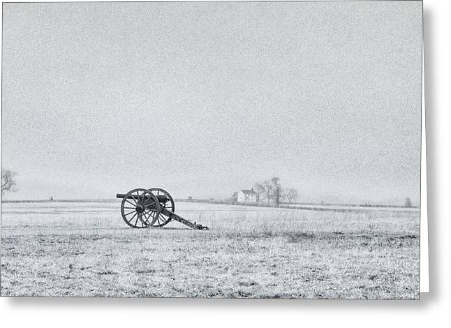 Cannon Out In The Field Greeting Card