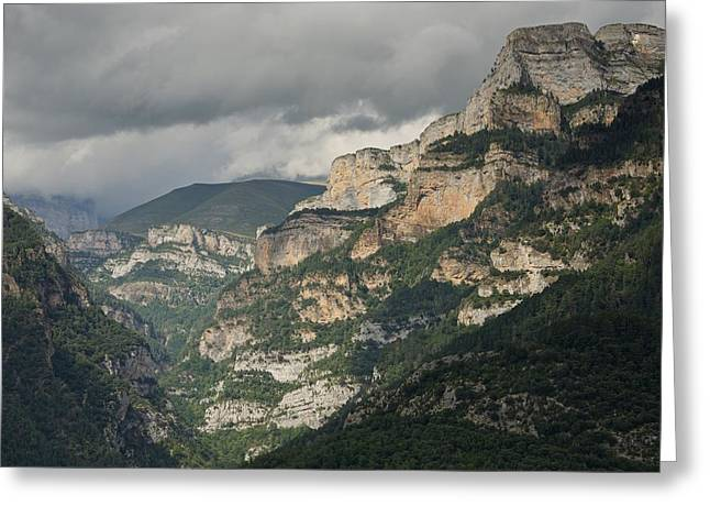 Greeting Card featuring the photograph Canyon Anisclo by Stephen Taylor