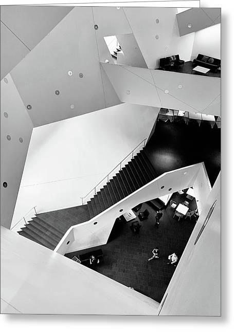 Canyons Of The Denver Art Museum Greeting Card