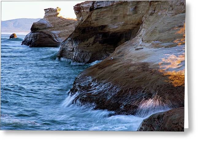 Greeting Card featuring the photograph Cape Kiwanda Pacific City Oregon 101818 by Rospotte Photography