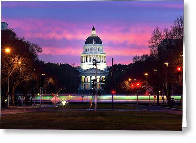 Capital Sunrise Greeting Card