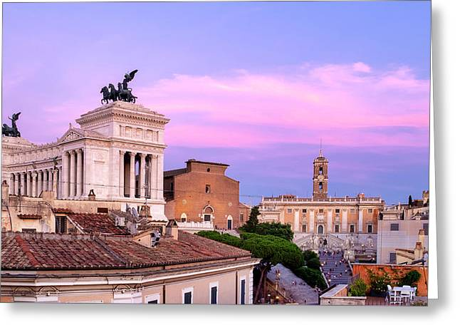 Greeting Card featuring the photograph Capitoline Hill by Fabrizio Troiani