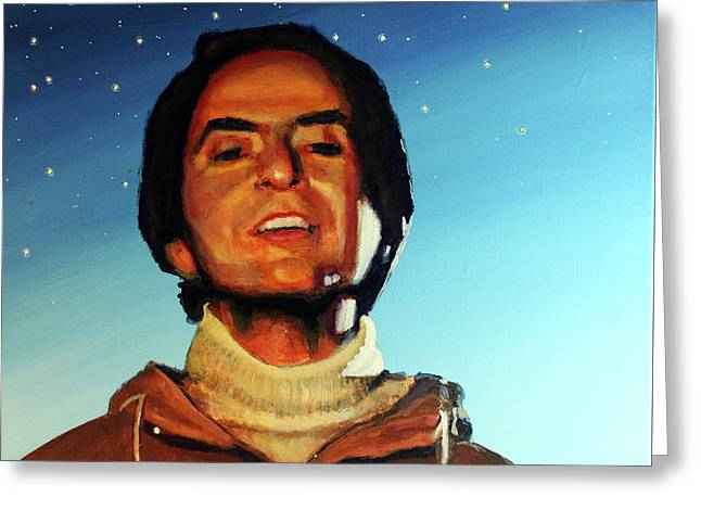 Carl Sagan Cosmos Greeting Card by Simon Kregar