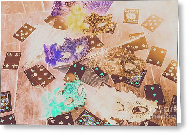 Carnival Of Cards Greeting Card