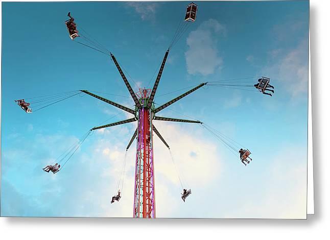 Carnival Swing Greeting Card