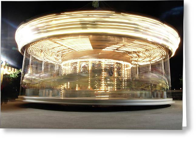 Greeting Card featuring the photograph Carousel  by Edward Lee