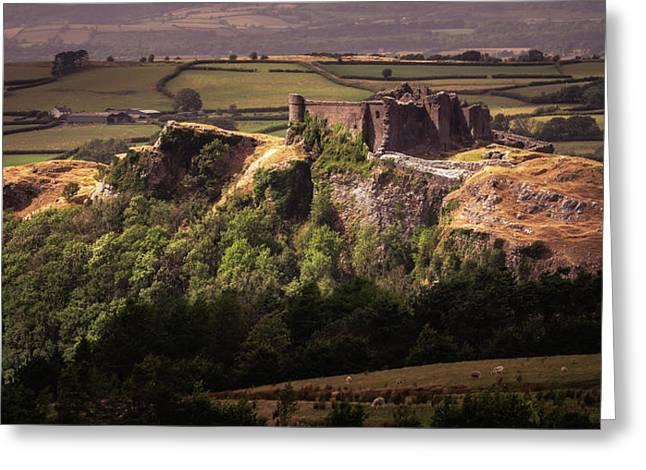 Carreg Cennen Castle Greeting Card