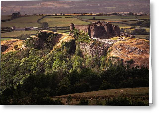 Greeting Card featuring the photograph Carreg Cennen Castle by Elliott Coleman
