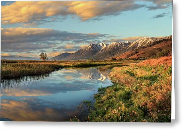 Carson Valley Sunrise Greeting Card