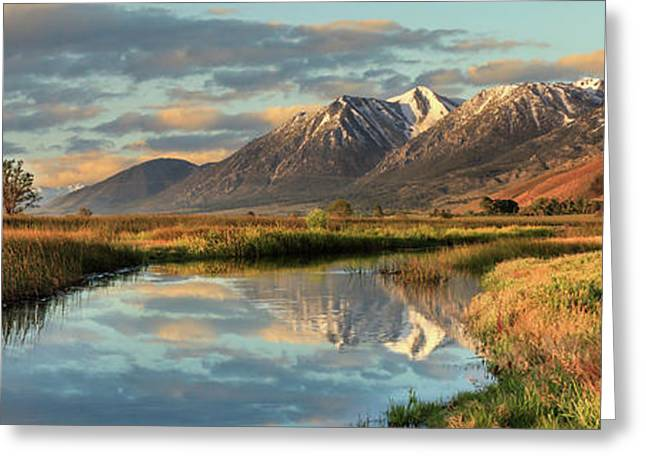 Carson Valley Sunrise Panorama Greeting Card