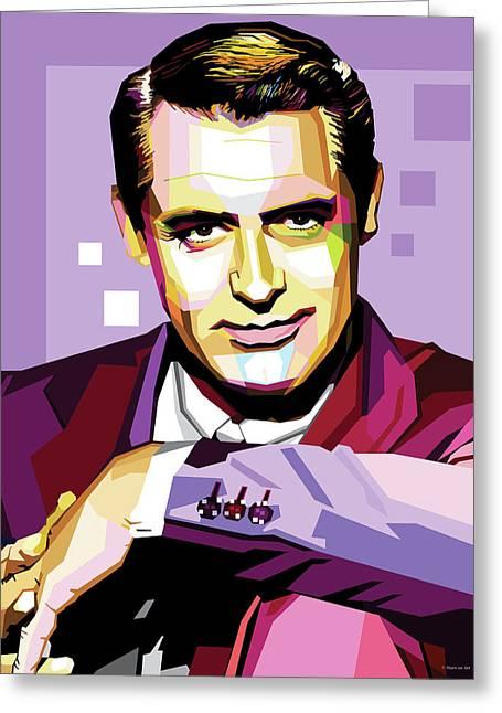 Cary Grant Pop Art Greeting Card