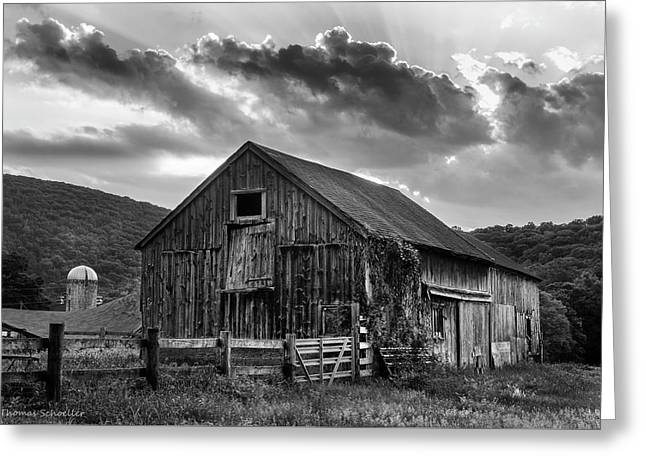 Casey's Barn - Monochrome Greeting Card